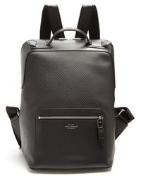 Smythson - Greenwich Woven-leather Backpack - Lyst