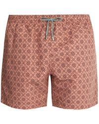 Stella McCartney - Mosaic-print Swim Shorts - Lyst