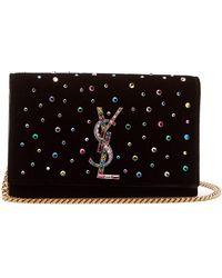 Saint Laurent - Kate Small Crystal Embellished Cross Body Bag - Lyst