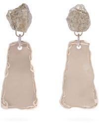 Proenza Schouler - Hammered Clip On Earrings - Lyst