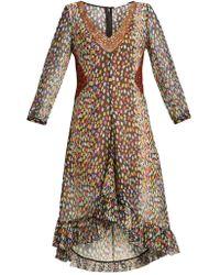 Marco De Vincenzo - Multicoloured Leopard-print Silk-georgette Dress - Lyst