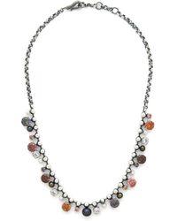 Bottega Veneta - Crystal And Pearl Embellished Necklace - Lyst