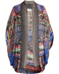Camilla - Pretty Precession-print Silk Cape - Lyst