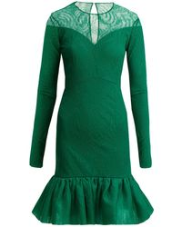 Emilio de la Morena - Lucretia Silk And Lace Dress - Lyst