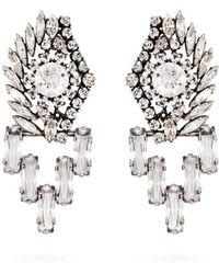Sonia Rykiel - Boucles d'oreilles à pendants ornements cristaux - Lyst