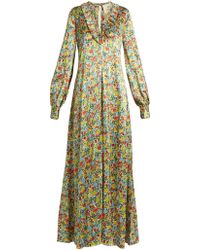 By. Bonnie Young - Floral Print Gown - Lyst