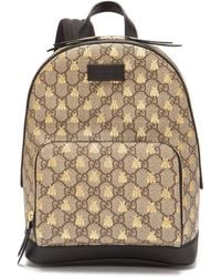 Gucci - Gg Supreme Logo And Bee Backpack - Lyst