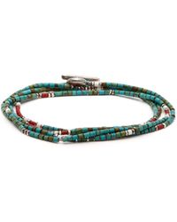M. Cohen - Bead Embellished Sterling Silver Wrap Bracelet - Lyst