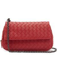 Lyst - Bottega Veneta Messenger Bag In Vesuvio Intrecciato Nappa in ... dbe04a7572