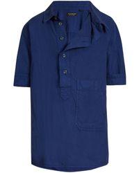 Burberry - Asymmetric-placket Short-sleeved Shirt - Lyst