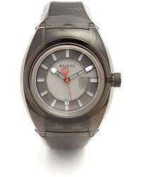 Gucci - - Sync Black Rubber Watch - Mens - Black - Lyst
