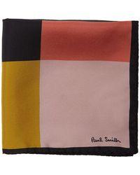 Paul Smith - Grid Print Silk Pocket Square - Lyst