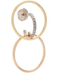 Charlotte Chesnais | Bloom Diamond & Gold Single Earring | Lyst