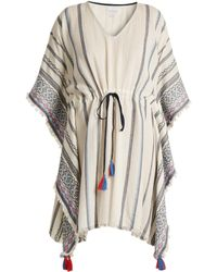 Velvet By Graham & Spencer - Adalina Striped Cotton Dress - Lyst