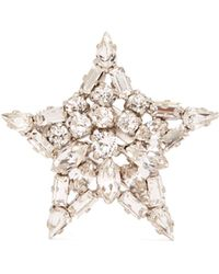 Saint Laurent - Star Crystal Embellished Brooch - Lyst