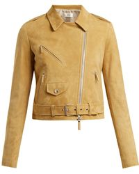 The Row - Perlin Suede Biker Jacket - Lyst