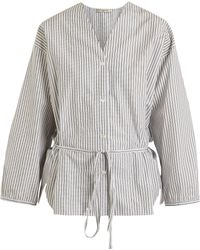 Three Graces London - Fillide Striped Cotton Pyjama Shirt - Lyst
