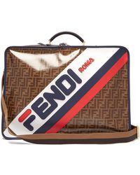 Fendi - Mania Coated Canvas Suitcase - Lyst