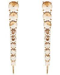 Oscar de la Renta - Tendril Crystal-embellished Drop Earrings - Lyst