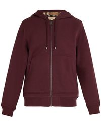 Burberry - Nova Check Lined Cotton Blend Hooded Sweatshirt - Lyst