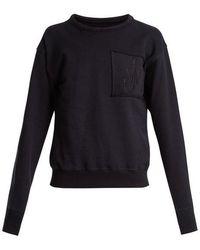 JW Anderson - Logo-embroidered Crew-neck Cotton Sweatshirt - Lyst