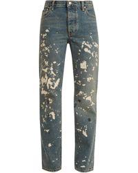 Helmut Lang | Paint-effect Straight-leg Jeans | Lyst