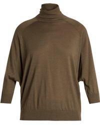 Brunello Cucinelli - Roll-neck Cashmere-blend Jumper - Lyst