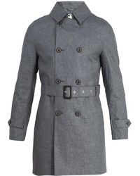 Mackintosh - Double-breasted Linen Trench Coat - Lyst