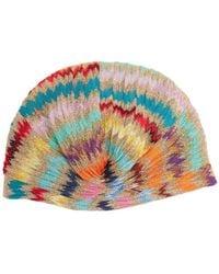 Missoni - Zigzag Knitted Turban Hat - Lyst
