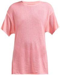 The Elder Statesman - Cashmere And Silk Blend T Shirt - Lyst