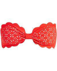 Marysia Swim - Antibes Scallop-edged Bandeau Bikini Top - Lyst