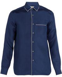 Valentino - Pyjama Style Silk Satin Shirt - Lyst