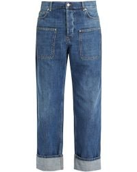 J.W. Anderson | Pocket-detail Mid-rise Wide-leg Jeans | Lyst