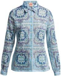 Le Sirenuse - Penny Aretusa Print Cotton Shirt - Lyst