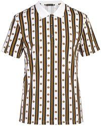 5c8fdd45 Versace Baroque-print Cotton Polo Shirt for Men - Lyst