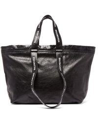 Balenciaga - - Carry Shopper S Leather Bag - Mens - Black White - Lyst