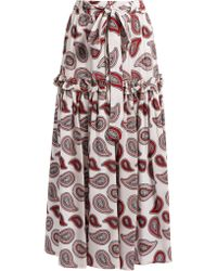 Dodo Bar Or - Stevie Paisley-print Silk Skirt - Lyst