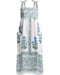 Juliet Dunn - Poppy Print Cotton Midi Dress - Lyst