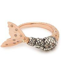 Bibi Van Der Velden - Mermaid Brown Diamond And 18kt Rose-gold Ring - Lyst