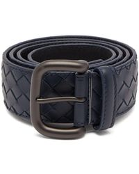 Bottega Veneta - Intrecciato Leather 4cm Belt - Lyst