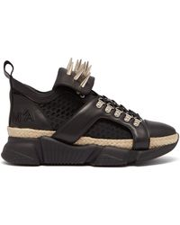 Marques'Almeida - Spike Tongue Leather High Top Trainers - Lyst
