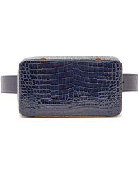 Lutz Morris - Evan Crocodile Effect Leather Belt Bag - Lyst