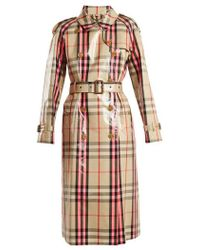 Burberry - Laminated Cotton-blend Gabardine Trench Coat - Lyst