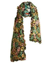 Preen By Thornton Bregazzi - Posey Floral-print Silk-charmeuse Gilet - Lyst