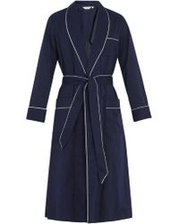 Derek Rose - Royal Polka-dot Cotton Bathrobe - Lyst