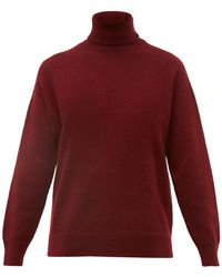 Officine Generale Alma Cashmere Roll Neck Sweater - Red