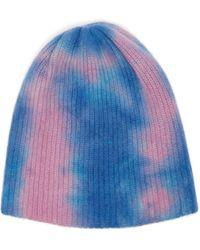 The Elder Statesman - Tie Dye Cashmere Beanie Hat - Lyst