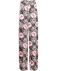 Duro Olowu - Zanzibar Flower-print Silk-satin Trousers - Lyst