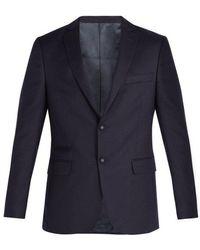 Officine Generale - Single-breasted Notch-lapel Wool Blazer - Lyst