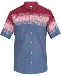 Thorsun - Printed Cotton Short Sleeved Shirt - Lyst
